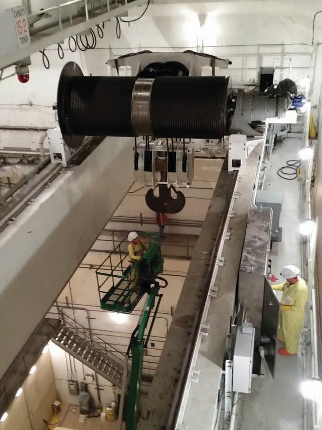 Overhead Crane Failure : Cask handlers hoist magazine