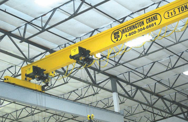 Washington Crane built this 10m crane with two 5USt hoists for